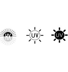 Uv light icon on white background vector