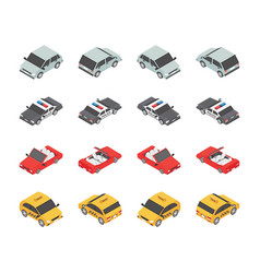 vehicle types icons set vector image
