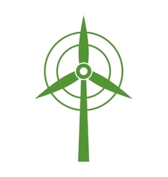 Wind mill icon save energy design vector