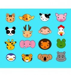 cartoon animals set vector image