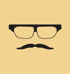 Hipster face3 vector image