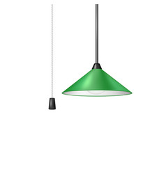 retro hanging lamp in green design vector image