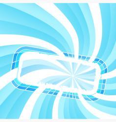 spiral light frame vector image vector image