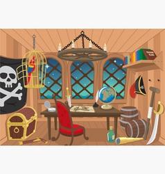 captain cabin vector image vector image