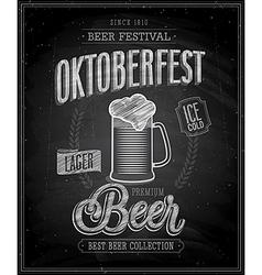 octoberfest chalk vector image vector image