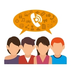 People communicating concept icon vector image