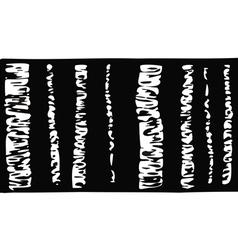 Birch tree black and white vector
