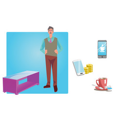businessman worker employee in casual clothes vector image vector image