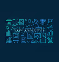 data analytics concept blue vector image vector image