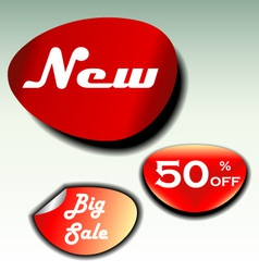 labels for big sale new and discount vector image vector image