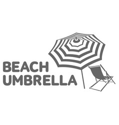 logo template with beach umbrella and sun bathing vector image vector image