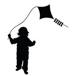 child playing dragon in black vector image vector image
