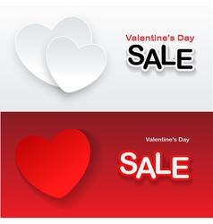 heart banner vector image vector image