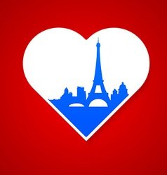 i love Paris template vector image