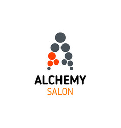a letter icon for alchemy spa salon vector image