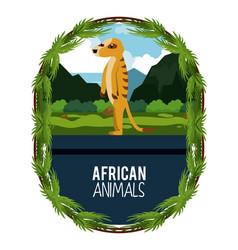 african animals cartoon vector image