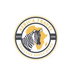 African travel emblem logo vector