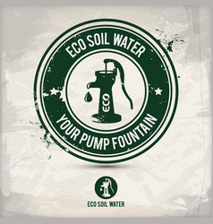 alternative eco soil water stamp vector image