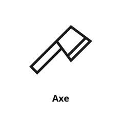 axe line icon vector image