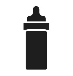 baby bottle icon simple style vector image