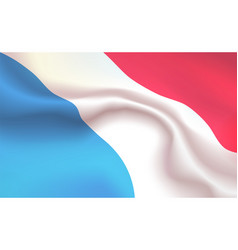 Background grand duchy of luxembourg in folds vector
