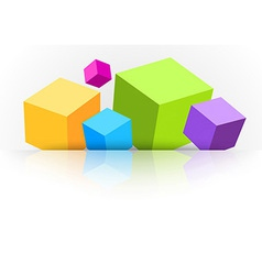 Background with cubes - for advertising vector image