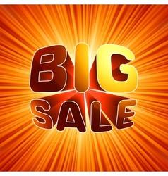 Big sale burst message EPS 8 vector image vector image