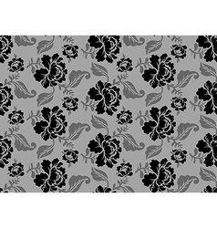 Black Rose seamless pattern Retro floral texture vector image