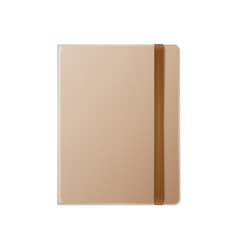 blank realistic template notebook vector image