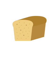 bread icon color style vector image