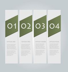 Business infographics template green color vector