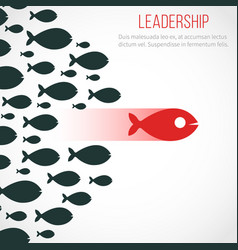 business leadership concept with red leader vector image