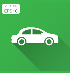 car icon in flat style automobile car with long vector image