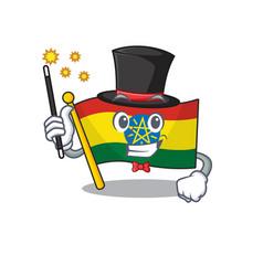 Cartoon character design flag ethiopia magician vector