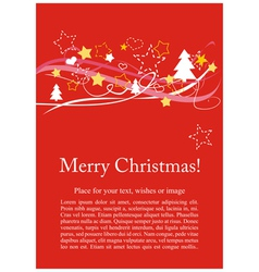 Christmas card or invitation for party with wishes vector