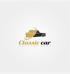 classic car icon template creative logo design vector image