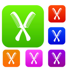 Combs set collection vector