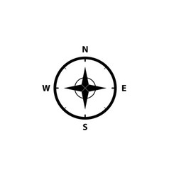 compass icon in the flat style vector image