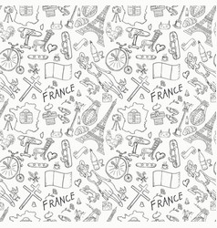 Contour seamless pattern 5 travel to europe vector