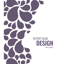 Cover design with drops vector