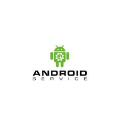 Creative design logo repair android vector