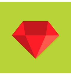 Diamond Christmas Flat Icon vector