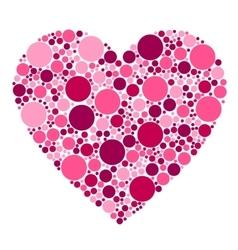 dots heart vector image