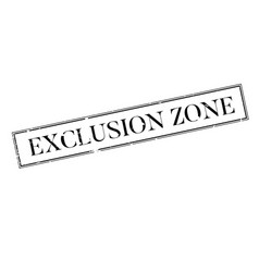Exclusion zone rubber stamp vector