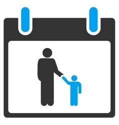 Father Calendar Day Toolbar Icon vector