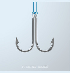fishing hooks metal vector image
