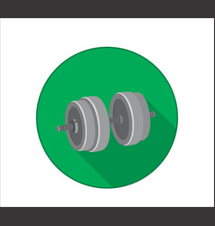 flat icon of dumbbell for arm strength training vector image