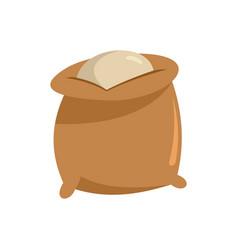 Flour bag icon flat style vector