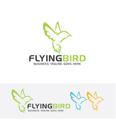 Flying bird logo design vector