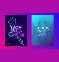Gradient party flyer electro dance music vector